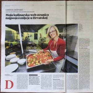 Sandra Gašparić ReciPeci Večernji list 18.11.2015.