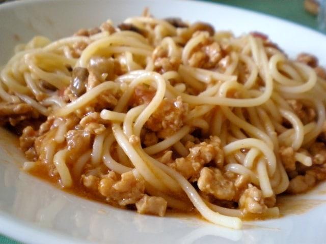 Spagetti Bolognese sa gljivama