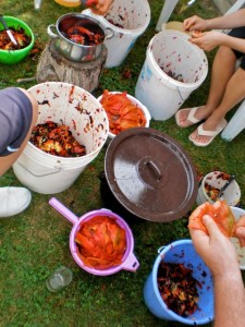 Čišćenje pečene paprike za ajvar