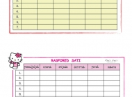Raspored sati i naljepnice za knjige i bilježnice