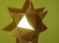 Božićni ukrasi od papira – zvijezda