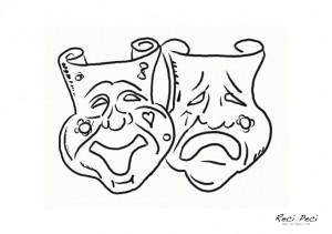 karnevalske bojanke maski za lice
