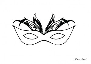 karnevalske bojanke maski za oči