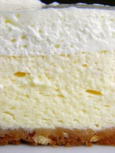 Detalj savršeno kremaste strukture cheesecake-a