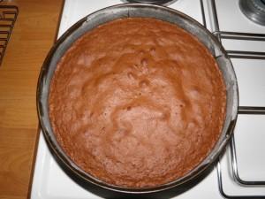 Prikaz pečenog biskvita cappuccino torte