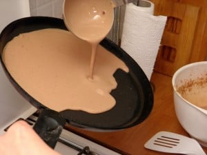 Postupak pripreme palačinke s kakaom