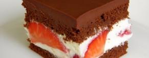Čokoladne kocke s jagodama