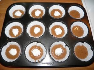 Čokoladni muffini s kokosom - prvi korak izrade