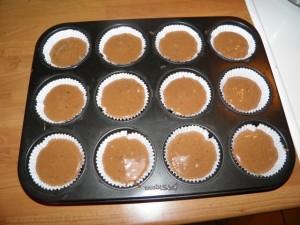 Čokoladni muffini s kokosom - drugi korak izrade