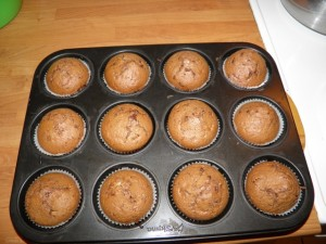 Čokoladni muffini s kokosom - pečeni!