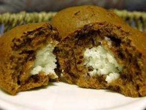 Čokoladni muffini s kokosom - presjek!