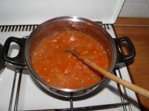 Priprema umaka za Pide tursku pizzu - 2. korak