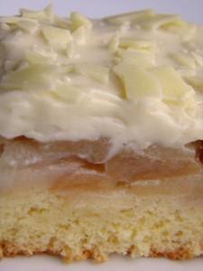 Preokrenuti kolač s jabukama - izbliza