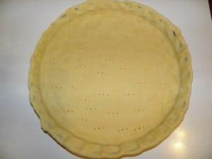 Čokoladni meringue tart - 1. korak izrade tijesta