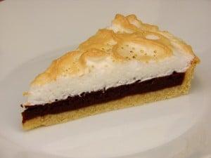 Čokoladni meringue tart - desert
