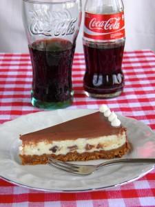 Oreo cheesecake i coca-cola