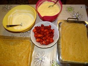 Priprema kolača bijeli egipat s jagodama