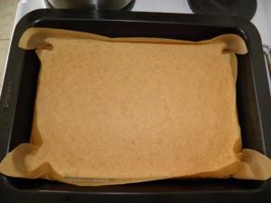 2. korak - pečenje rafaelo kocke