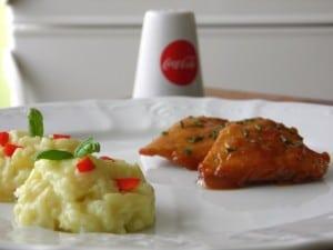 Poslužiti jelo uz pirjanu rižu s tikvicama