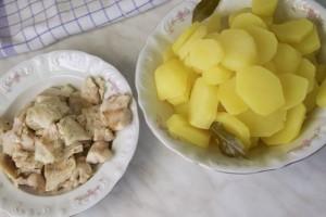 Ocijediti ribu i krumpir iz temeljca