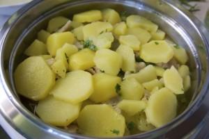 Završiti slaganje krumpirom