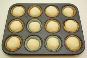 Složiti ih u kalupe za muffine