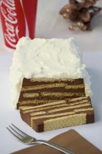 Keks kolač s pudingom