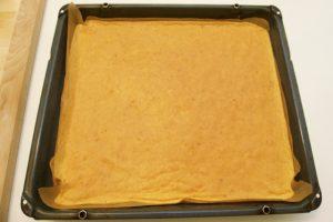 Priprema narančastog biskvita za roladu