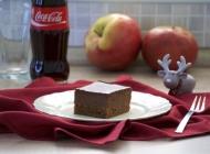Čokoladne kocke s jabukama i rumom