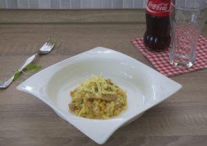 Rižoto s piletinom, kurkumom i kukuruzom