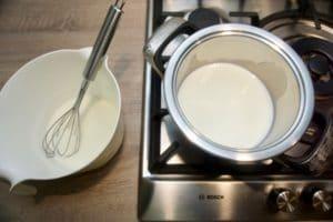 Priprema bijele kreme za muffine