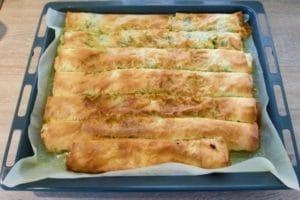 Pečena pita od poriluka i krumpira