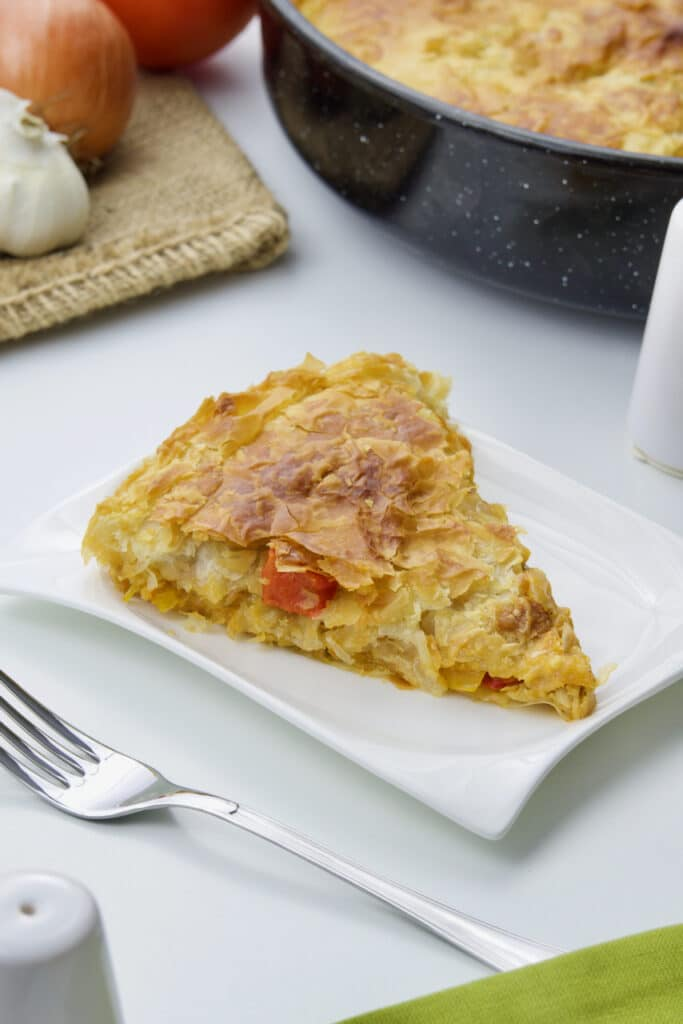 Grčka pita s piletinom i paprikama